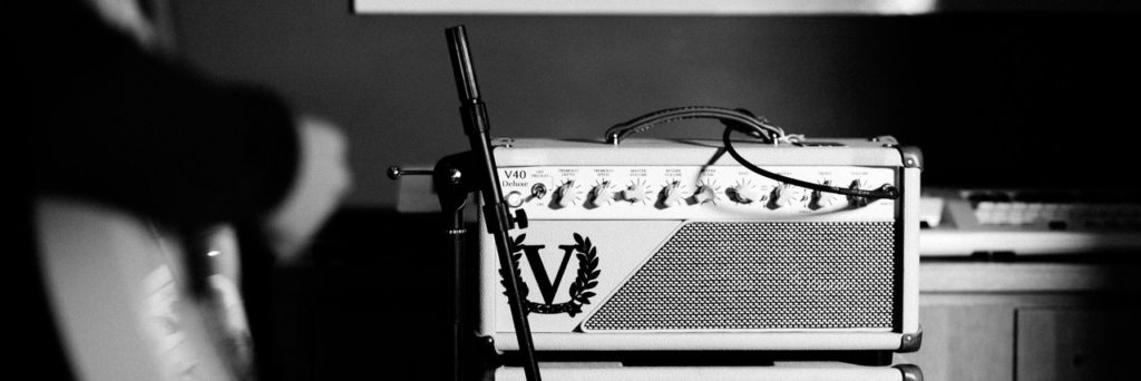 Guitar recording in studio
